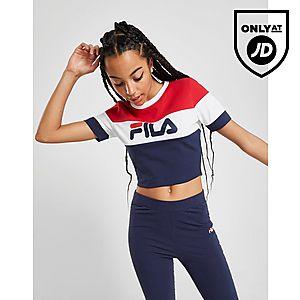 1922760bc2 Fila Colour Block Crop T-Shirt