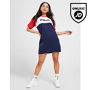 459ef408b8 ... Fila Colour Block T-Shirt Dress