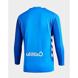 125fa34a ... Hummel Rangers FC 2018/19 Long Sleeve Home Shirt Junior