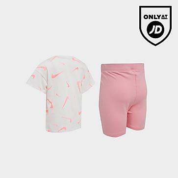 Nike Girls' Swoosh T-Shirt/Cycle Shorts Set Infant