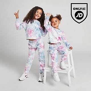 Ellesse Girls' Ember Tiedye Crew Tracksuit Children
