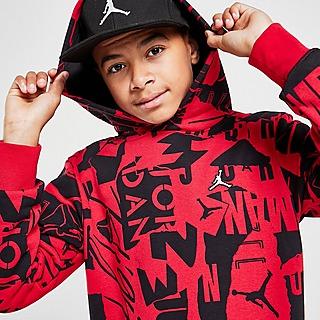 Jordan Essentials All Over Print Hoodie Junior