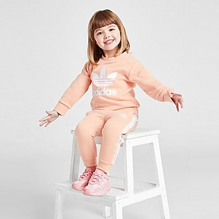 adidas Girls' Trefoil Crew Tracksuit Infant