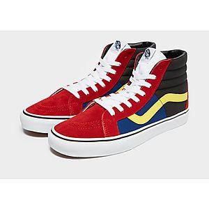 scarpe ragazza vans basse rosse e blu
