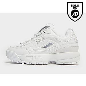 fila scarpe scritta in corsivo bianche