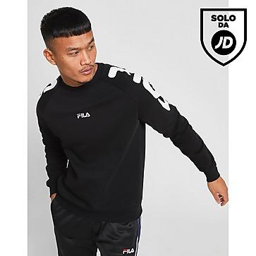 Buy Black Fila Vernon Crew Sweatshirt | JD Sports | JD