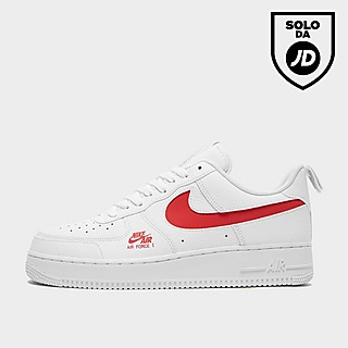 nike air force 1 nere e rosse