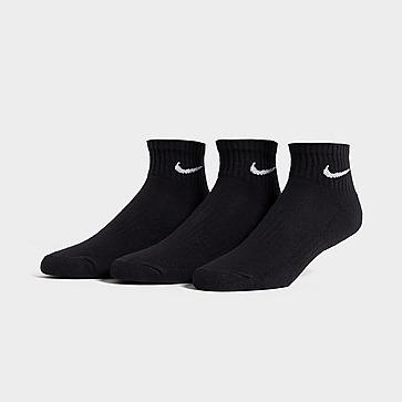 Nike 3 Pack Cushioned Quarter Calze