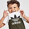 Verde/Bianco adidas Originals Sliced T-Shirt/Shorts Set Infant