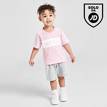 adidas Linear Essential T-Shirt & Shorts Completo Neonata