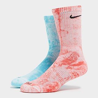 Nike 2-Pack Everyday Plus Tie-Dye Crew Calze
