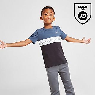 Under Armour Colour Block Logo T-Shirt Bambino