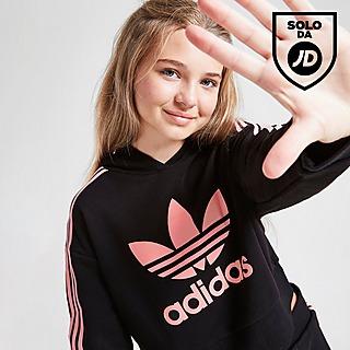 adidas Originals Crop Trefoil Felpa con cappuccio Junior