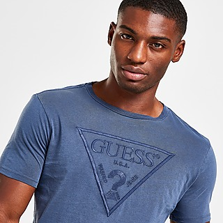 GUESS Embroidered Large Traingle Logo T-Shirt