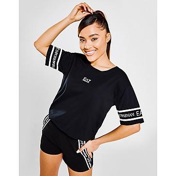 Emporio Armani EA7 Tape Logo Boyfriend T-Shirt Women's