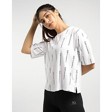 Emporio Armani EA7 All Over Print Crop Logo T-Shirt