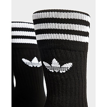 adidas Originals 3-Pack Solid Crew Socks