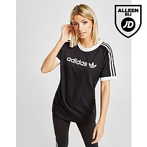 f0450921d00 adidas Originals 3-Stripes Linear T-Shirt Dames ...