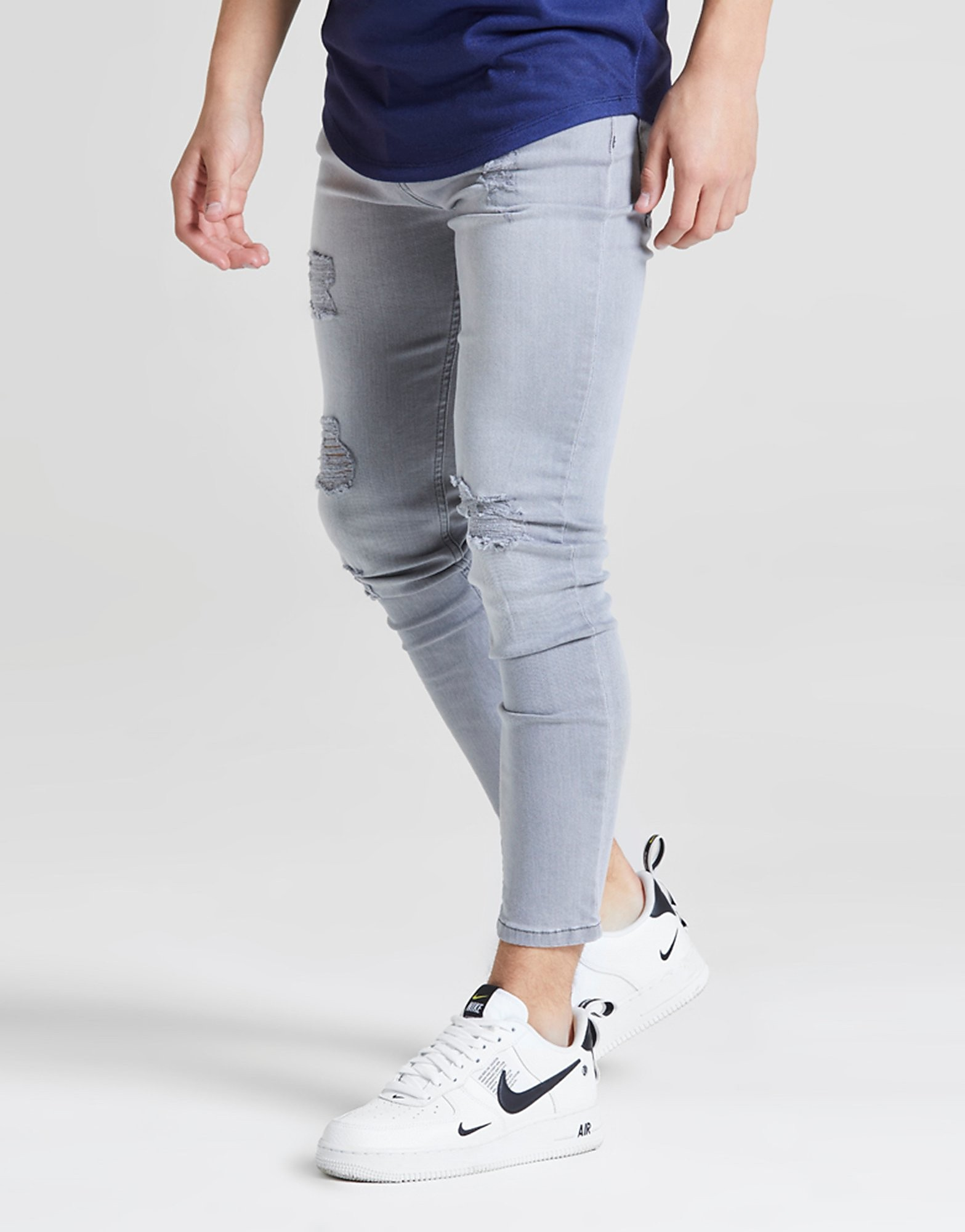 ILLUSIVE LONDON Skinny Washed Ripped Jeans Junior