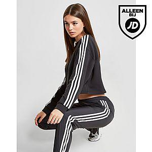 829125cf0cf adidas Originals 3-Stripes Crop Crew Sweatshirt Dames ...