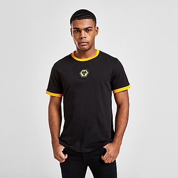 Official Team Wolverhampton Wanderers FC Crest T-Shirt Heren
