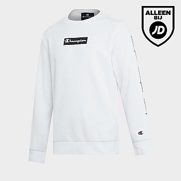 Champion Box Logo Fleece Crew Sweatshirt Junior