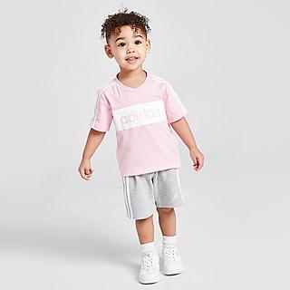 adidas Girls' Linear Essential T-Shirt/Shorts Set Infant