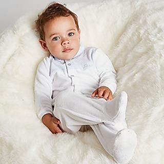 BOSS Colour Block Polo Onesie Babygrow Infant