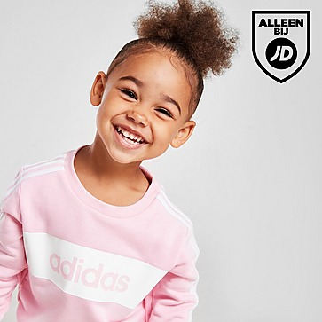 adidas Meisjes Linear Essential Crew Trainingspak Baby's