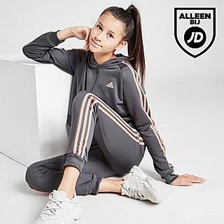 adidas Girls' Badge Of Sport Full Zip Poly Suit Junior