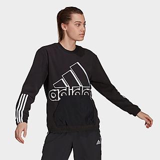adidas Brand Love Giant Logo Polar Fleece Sweatshirt
