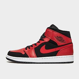 Nike Jordan 1 Mid Laranja Preto