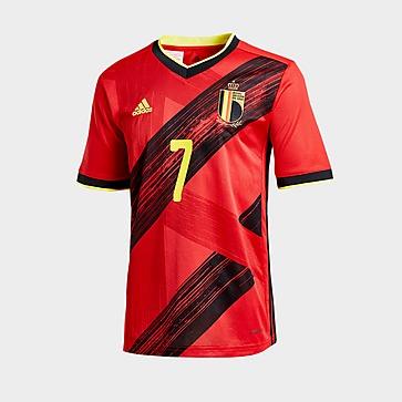 adidas T-shirt Bélgica 2020 Home #7 De Bruyne para Júnior