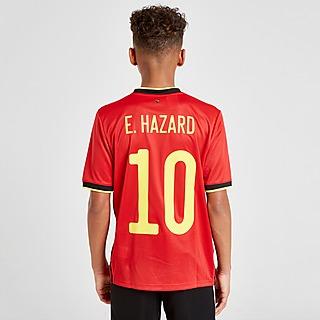adidas T-shirt Equipamento Principal Bélgica 2020 Hazard #10 para Júnior