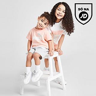 PUMA Conjunto Girls' Essential T-Shirt/Calções para Bebé