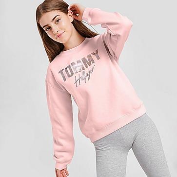 Tommy Hilfiger Girls' Script Crew Sweatshirt Junior