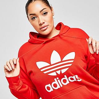 adidas Originals Camisola com Capuz Plus Size Overhead Trefoil