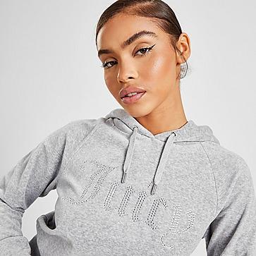 Juicy Couture Camisola com Capuz Diamante Logo Velour