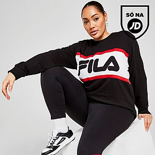 Fila Colour Block Long Sleeve Plus Size T-Shirt