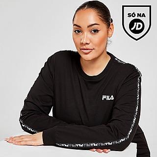 Fila Tape Plus Size Long Sleeve Boyfriend T-Shirt