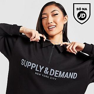 Supply & Demand Logo Collar 1/4 Zip Top
