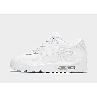 Billiga Nike Air Max Barn 90 Herr Skor Svart Grå Vit,white