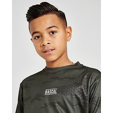New Rascal Boy's Camo Box Logo T-Shirt Black