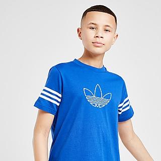 Barn Blå Adidas Originals T Shirts och Pikétröjor | JD