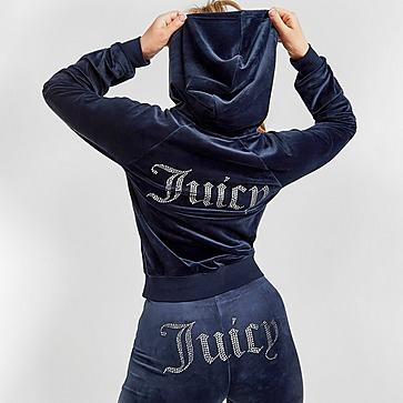 Juicy Couture Diamante Velour Full Zip Hoodie