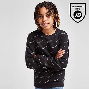 Champion All Over Fleece Crew Sweatshirt Junior