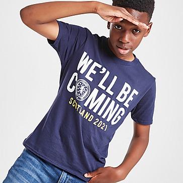 Official Team Scotland We'll Be Coming T-Shirt Junior