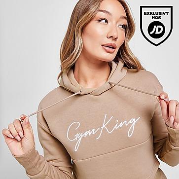 Gym King Sky Crop Logo Hoodie Dam