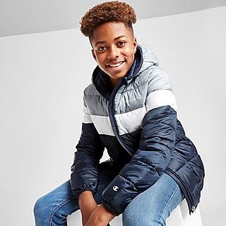Champion Colour Block Hooded Padded Jacket Junior