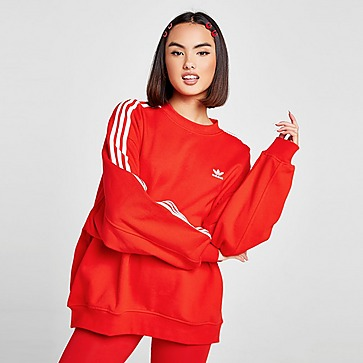 adidas Originals 3-Stripes Oversized Crew Sweatshirt